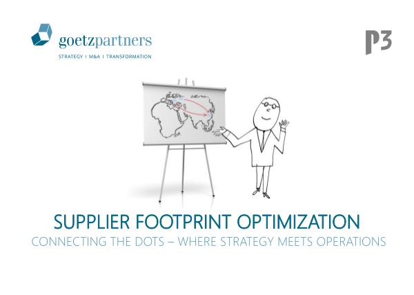 Brochure: Supplier Footprint Optimization