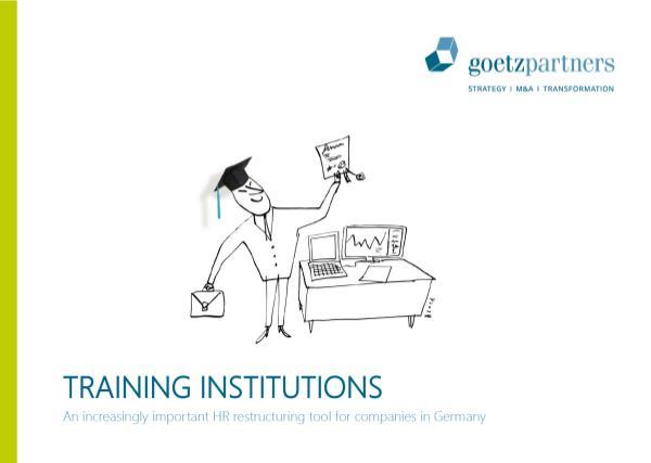 Brochure: Training Institutions