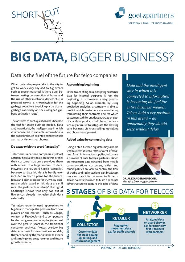 ShortCut: Big Data - Bigger Business?
