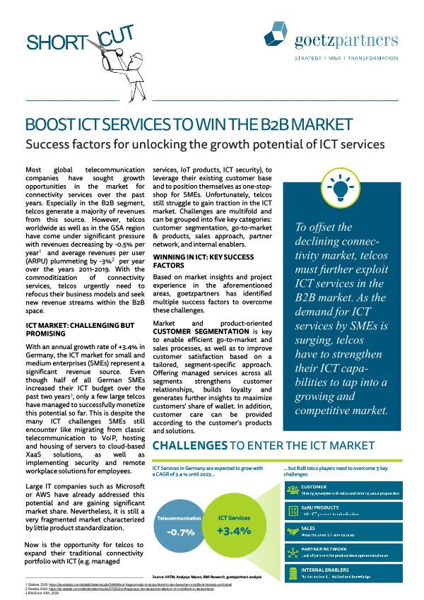 ShortCut: Boost ICT services to win to B2B market