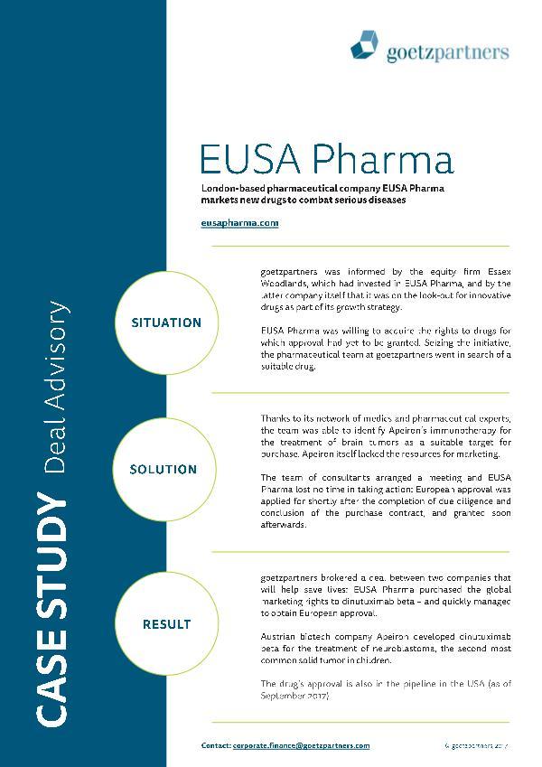 Client Case: EUSA Pharma