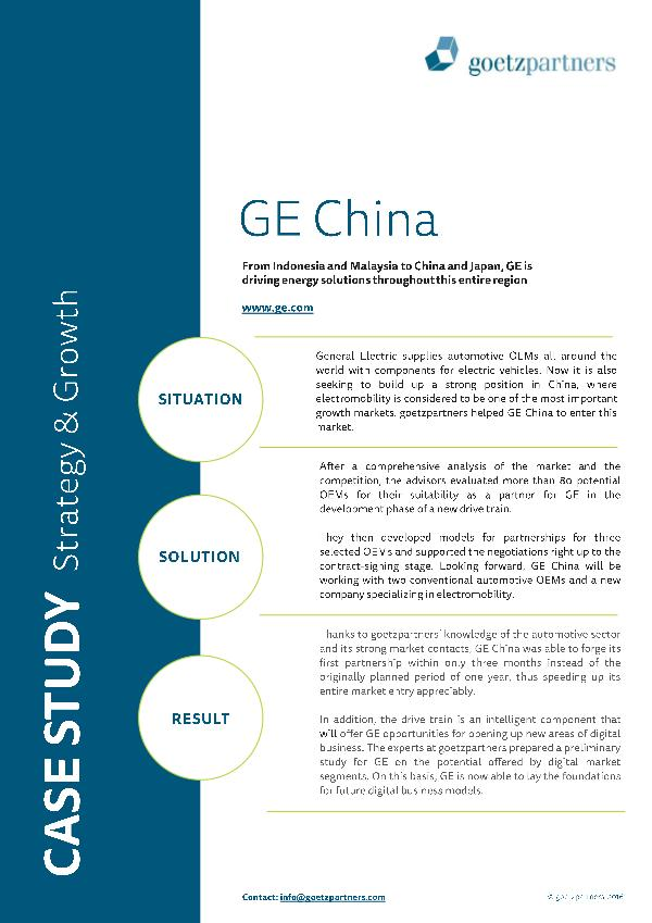 Client Case: GE China