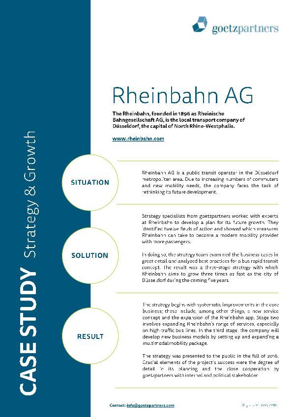 Client Case: Rheinbahn AG