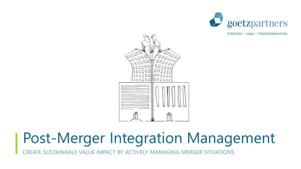 Brochure: Post-merger integration management