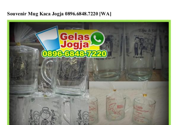 Souvenir Mug Kaca Jogja Ö896-6848-722Ö (WA) Souvenir Mug Kaca Jogja