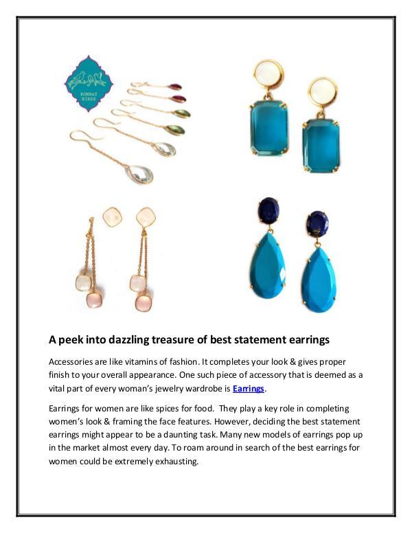 A peek into dazzling treasure of best statement earrings A peek into dazzling treasure of best statement ea