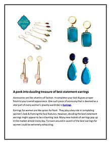 A peek into dazzling treasure of best statement earrings