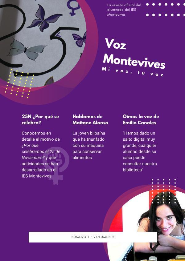 Voz Montevives Vol 2, Nº 1