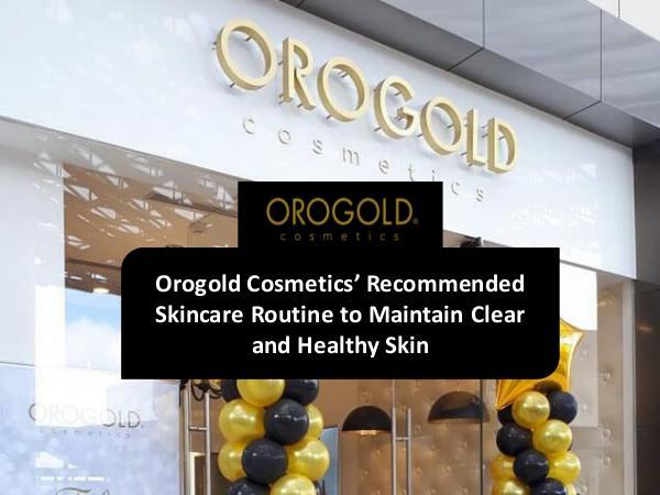OROGOLD CANADA Orogold Cosmetics - Skincare Routine