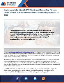 Environmentally-friendly PVC Plasticizer Market