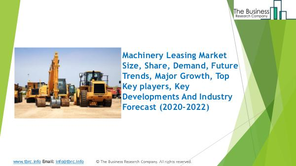Machinery Leasing Global Market Report 2020