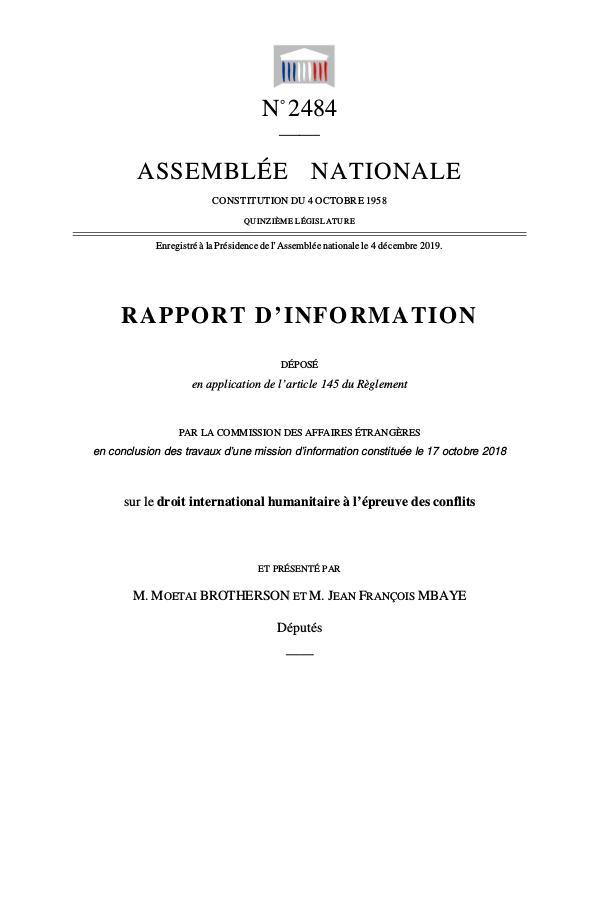 Ma première publication Rapport 3.