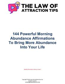 140+ Powerful Morning Abundance Affirmations