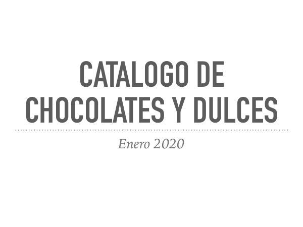 Catalogos Catalogo de chocolates y dulces