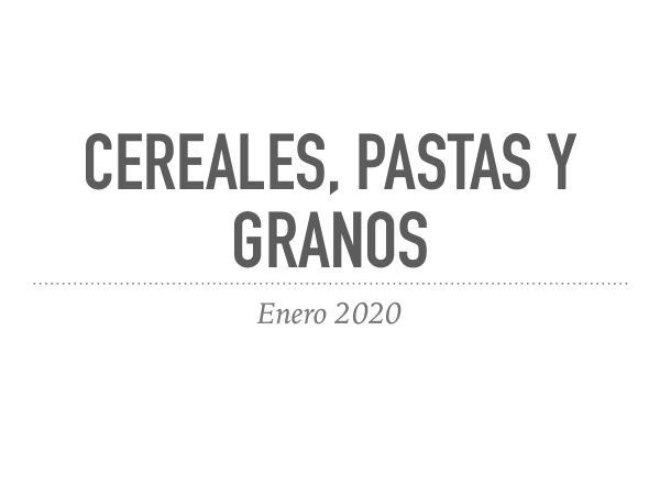 Catalogos Cereales, pastas y granos