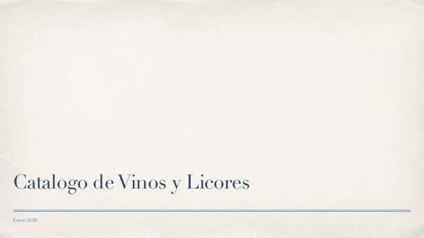 Catalogos Catalogo de vinos y licores