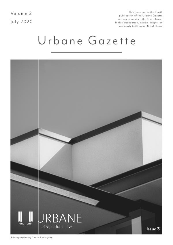 Urbane Gazette Volume 2 - Issue 3