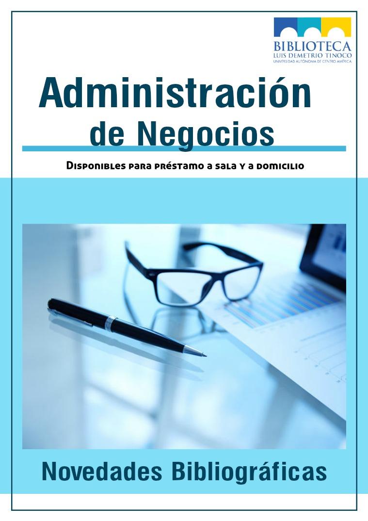 Novedades bibliográficas Administración 9 libros sobre Administración de Negocios