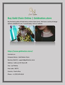 Buy Gold Chain Online | Goldnation.store
