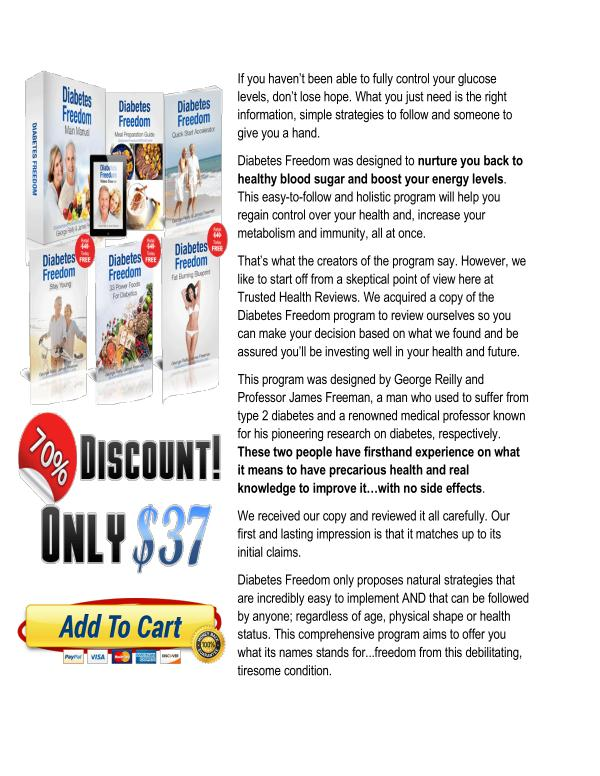 Diabetes Freedom PDF Download Free | George Reilly Reviews