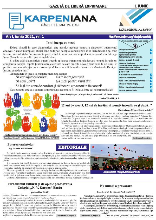 nr. 1 - 1 iunie 2021